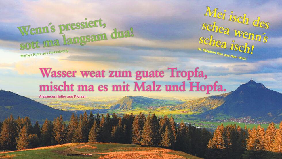 Geburtstagsglückwünsche bayerische Bayerische Geburtstagssprüche