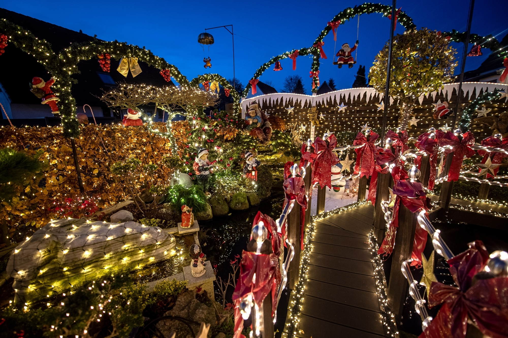 Blinkender weihnachtsstern